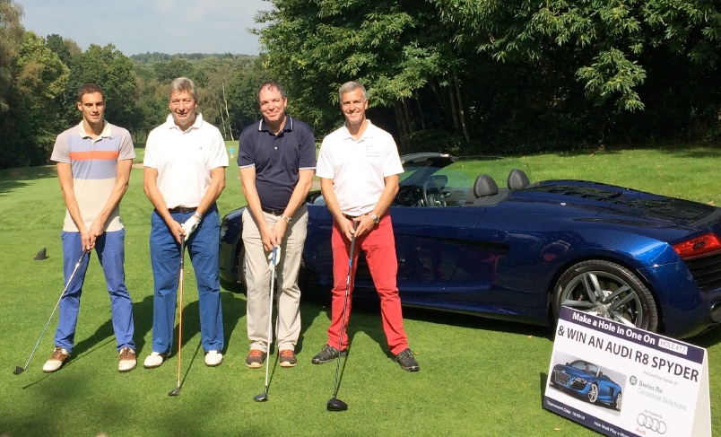 What a way to celebrate a hole-in-one... the keys to a luxury sports car!