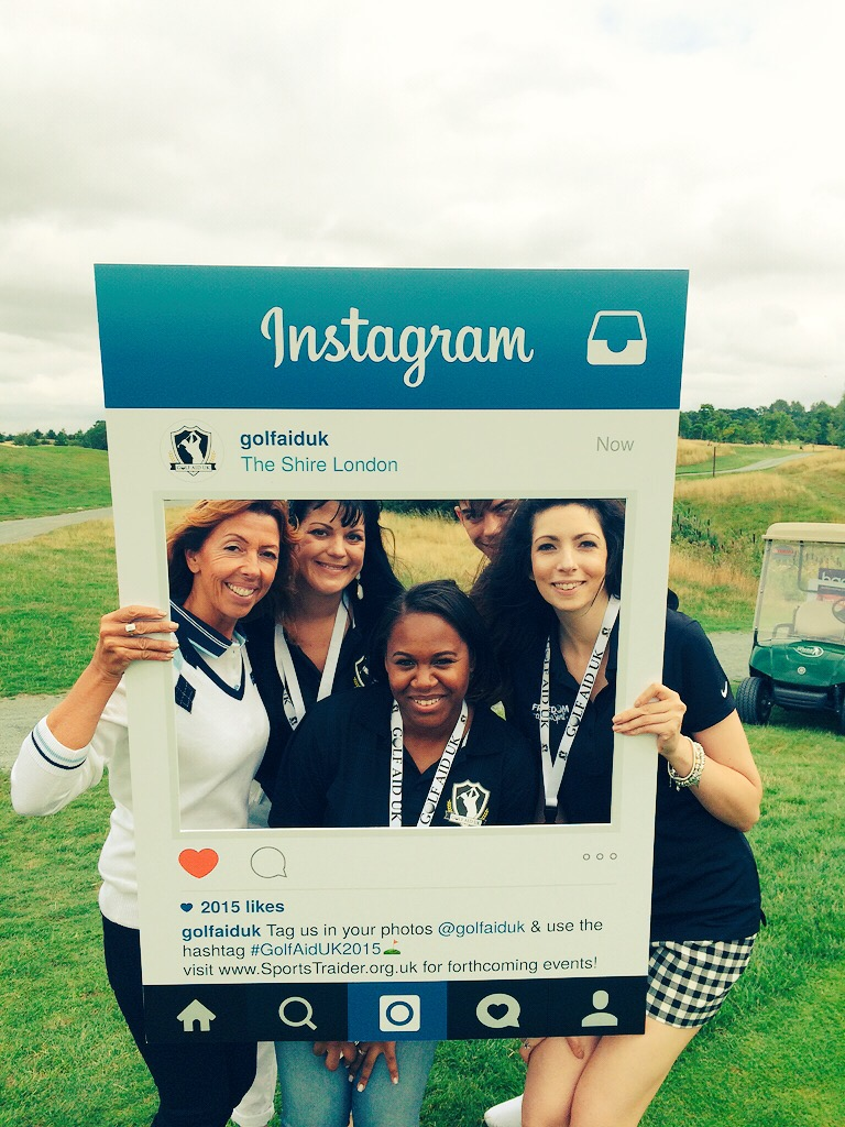 Right to left Helen Kotonias, Ria Bailey & Lou Campbell Golf Aid UK Organisers with Karen Jennings of Golf Day Gloss Ltd.