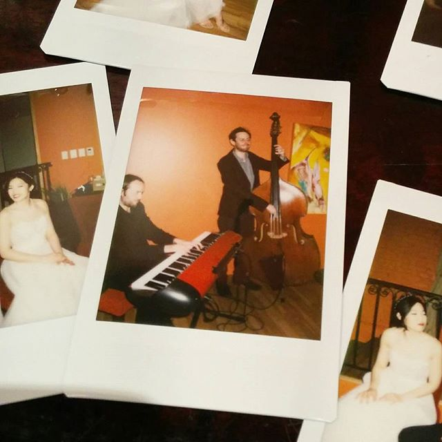 Nice to be back @georgeonqueen to celebrate Joyce & Gabriel! #polaroid #torontoweddings #torontojazz #toronto #trio #jazz #weddingseason