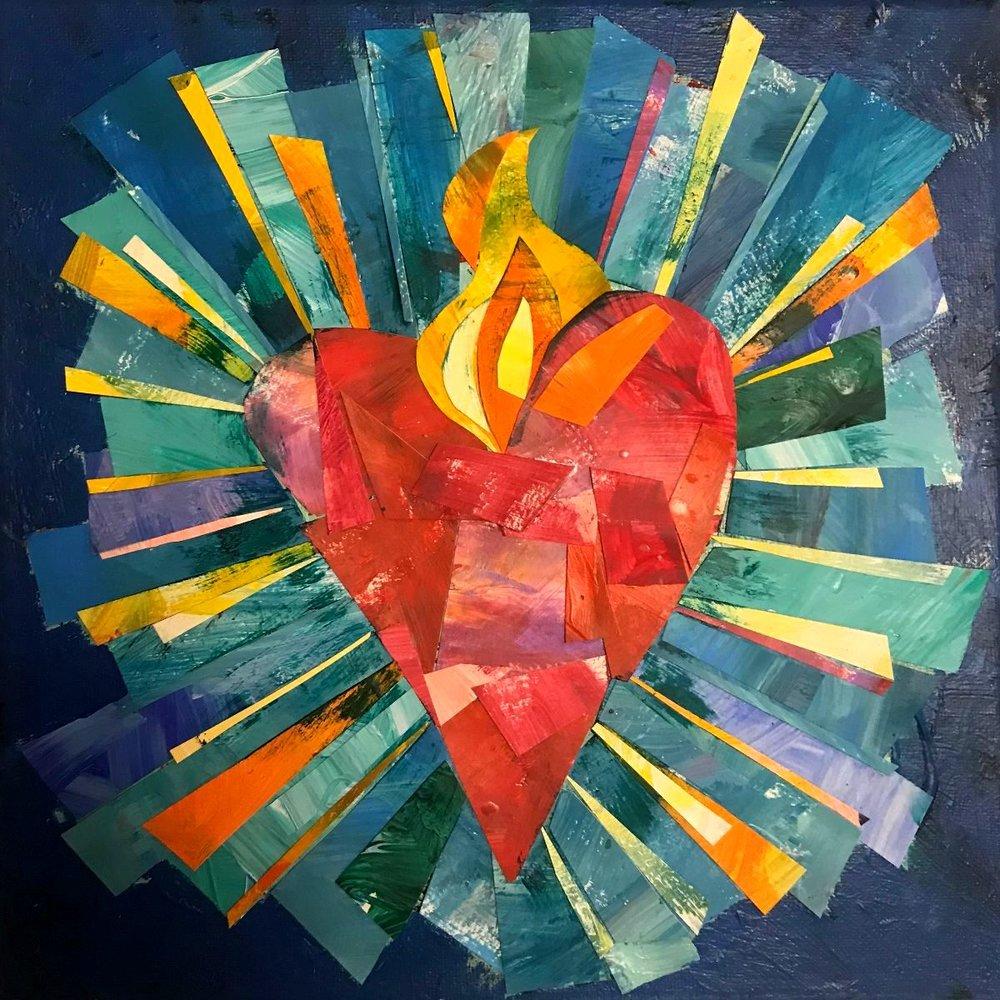 Blue Sacred Heart