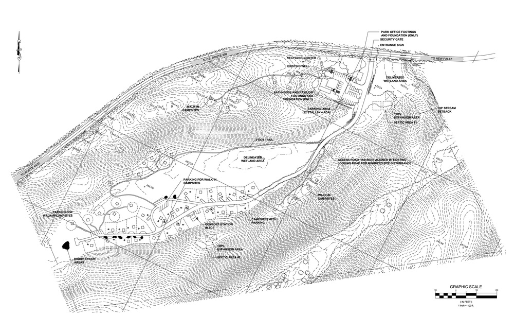 Siteplan for the new Gunks campground