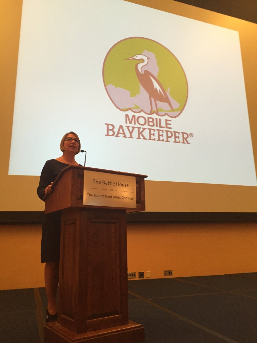 Executive Director Casi (kc) Callaway highlights the work we do to guests at Bay Awakening.