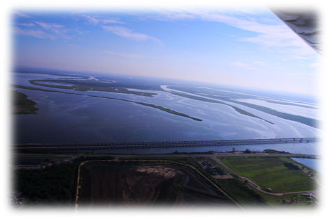 I-10 stretching across the Bay