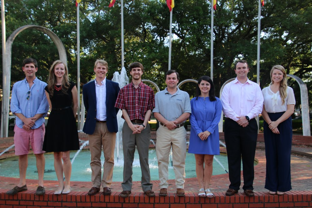 Pictured above: Members of the Young Advisory Council Leadership Committee. (L to R): John Cutts, Ashley Robinson, Sumpter McGowin, Breck Pappas, Brent Keith, Laura Byrne, Jep Hill, and Elizabeth Maynard.