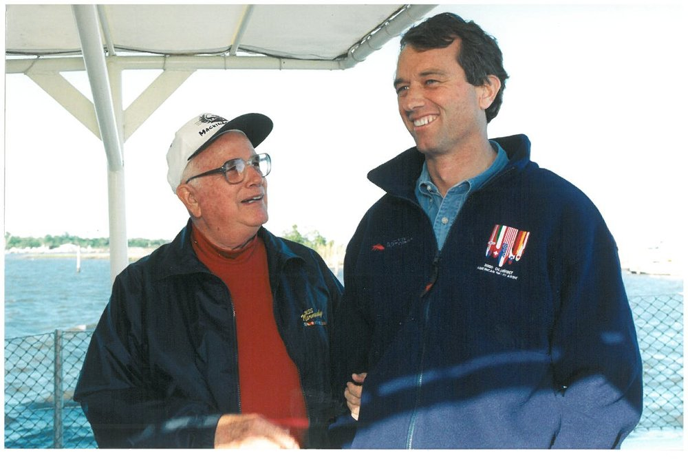 Jack pictured alongside Robert Kennedy, Jr. when Mobile Baykeeper affiliated with Waterkeeper Alliance in 1999.