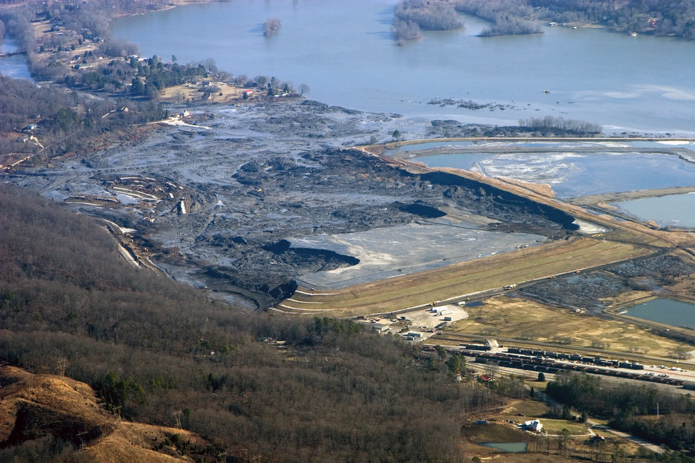 John Wathen's photo of coal ash spill in Kingston, TN,