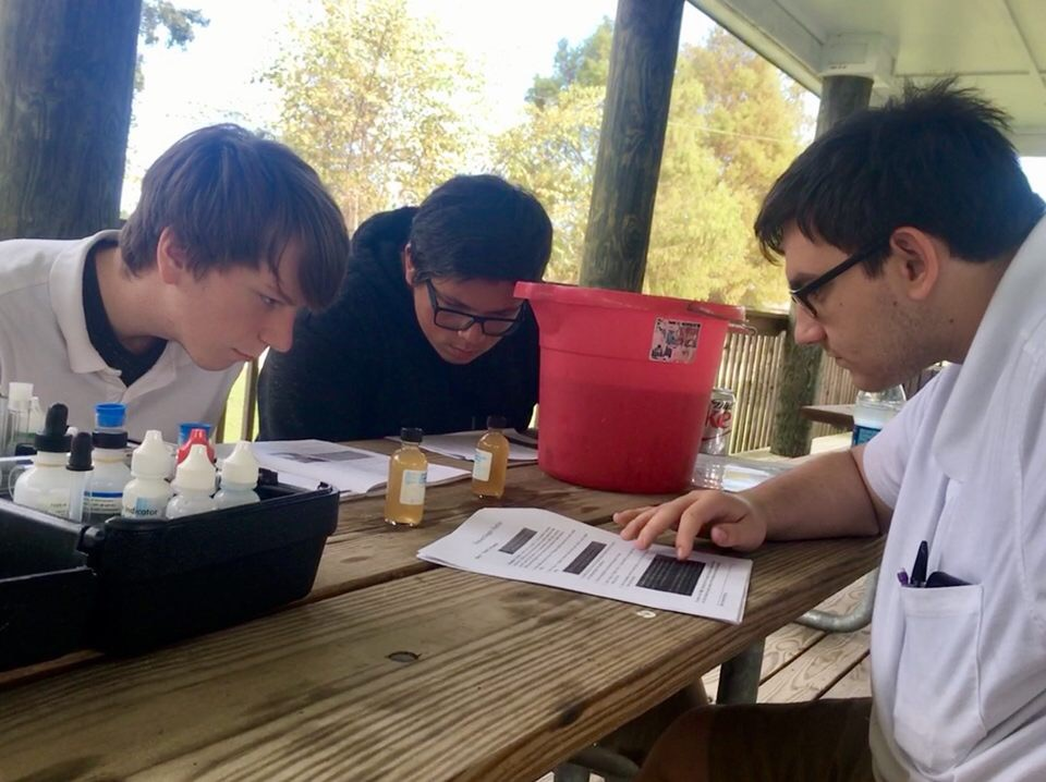 Students from Citronelle High School learn how to become certified water quality monitors through the SWAMP program.