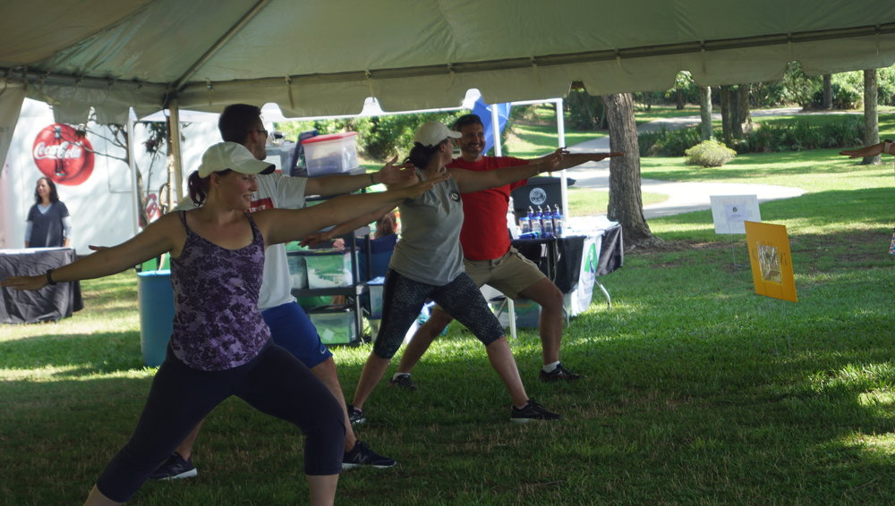 Health and Fitness Expo Yoga Session thanks to  Glow Yoga !