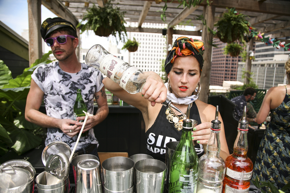 Lost Lake's Adrienne Stoner Making Cana Brava Rum Daiquiris Photo Credit Angelina Melody Photography.jpg