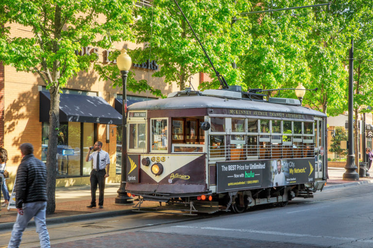 Wheel Cool:  The Uptown trolley was resurrected as a cute diversion for tourists but has now become a legitimate transportation option for residents who commute to downtown.