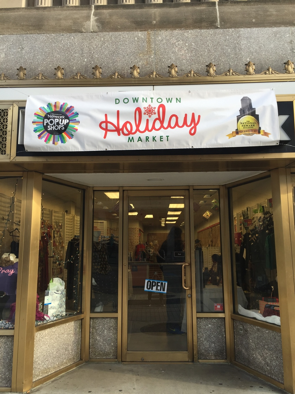 Downtown Holiday Market  presented by Newark Pop-Up Shops located at 744 Broad Street Newark, NJ.
