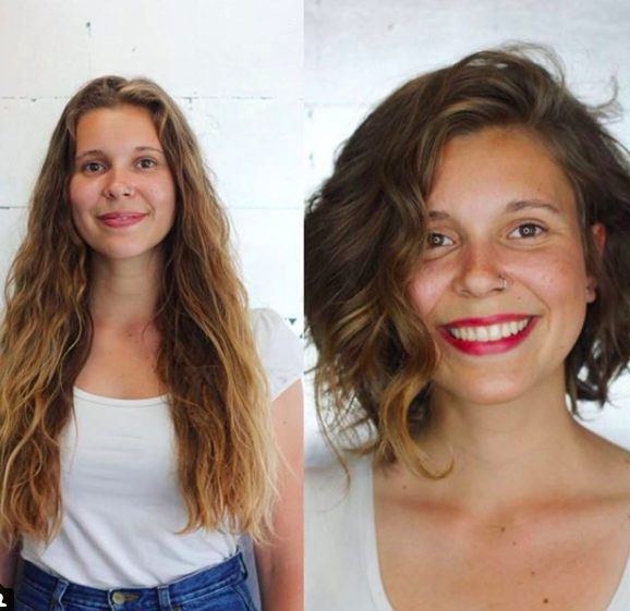 before and after, short hair, lob cut, wavy hair.png