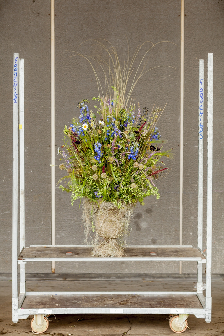 British Flowers Week 2015 Day 1 Design by Zita Elze using larkspur - Presented to you by New Covent Garden Flower Market