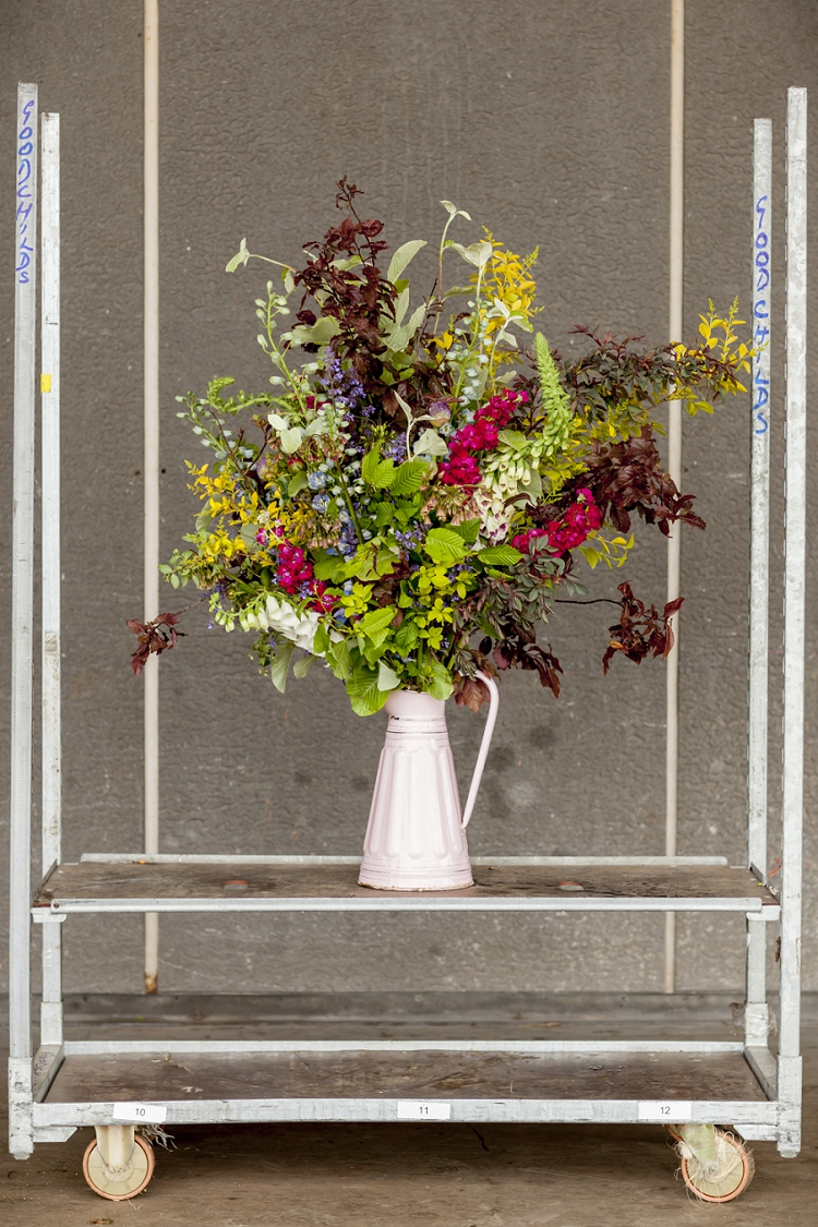 British Flowers Week 2015 Day 2 Design by That Flower Shop using British Foliage - Presented to you by New Covent Garden Flower Market