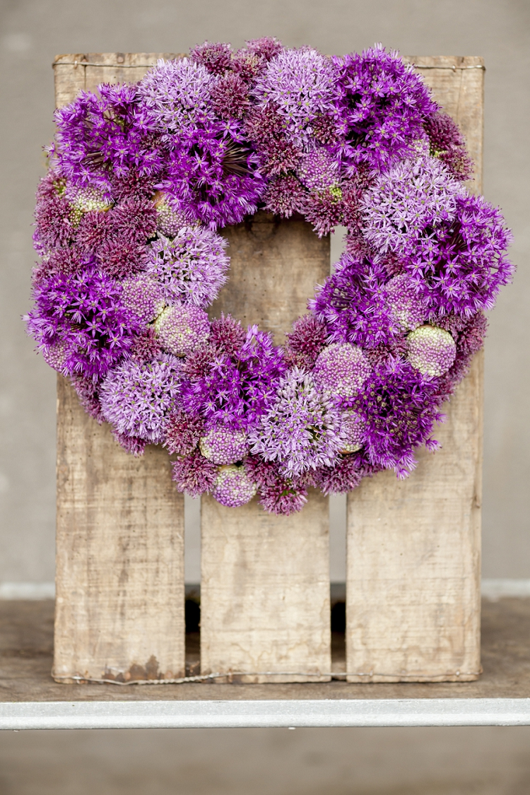 British Flowers Week 2015 Day 3 Design by Bloomsbury Flowers using British Alliums - Presented to you by New Covent Garden Flower Market