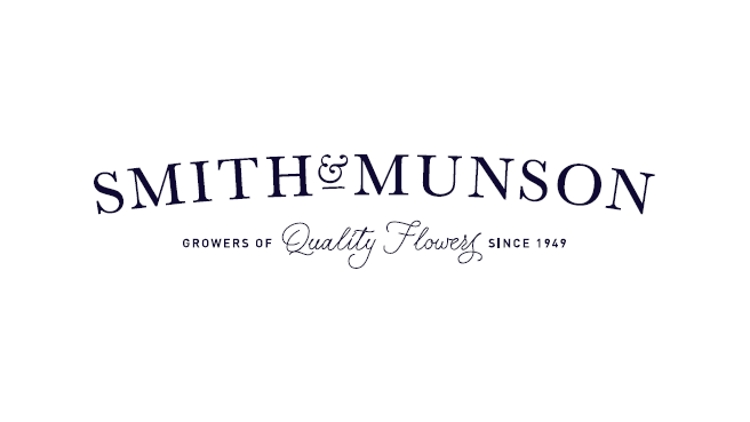 British Flowers Week 2016, Smith and Munson, Logo, presented to you by New Covent Garden Flower Market and NFU