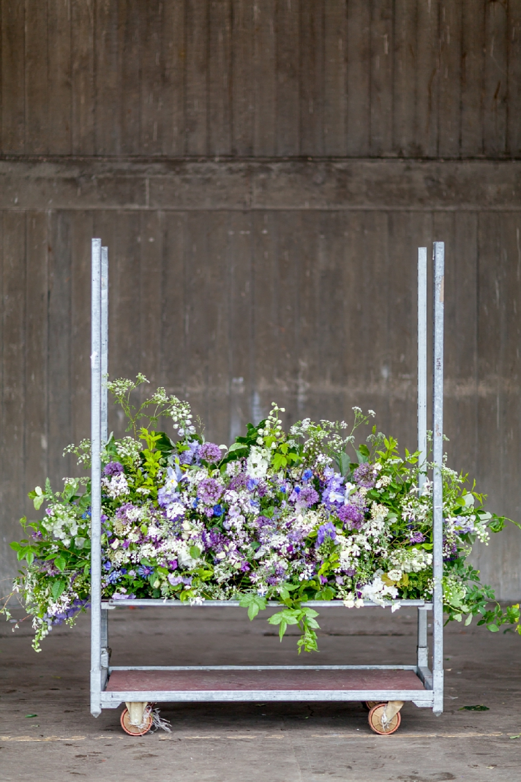 Day 4 of British Flowers Week 2016, featuring A Mantelpiece on the move designed by Anna and Ellie of The Flower Appreciation Society, presented to you by New Covent Garden Flower Market