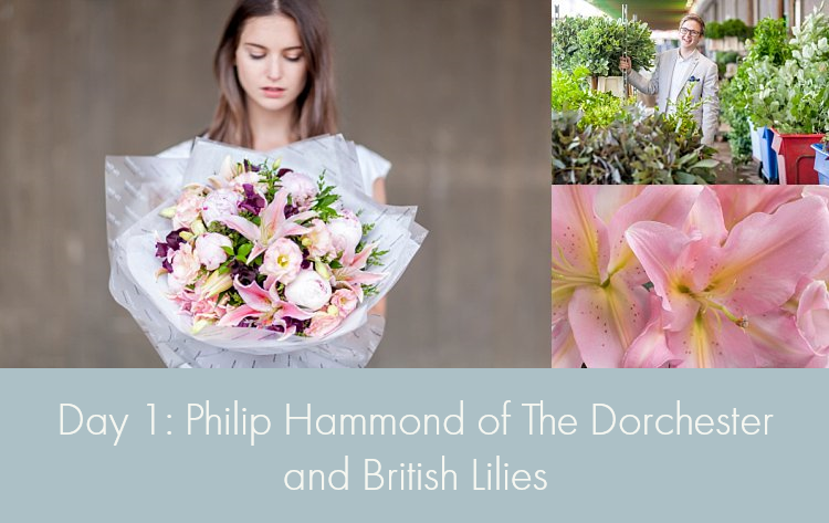 Day 1 of British Flowers Week, featuring designs by Philip Hammond of The Dorchester using British Lilies, presented to you by New Covent Garden Flower Market