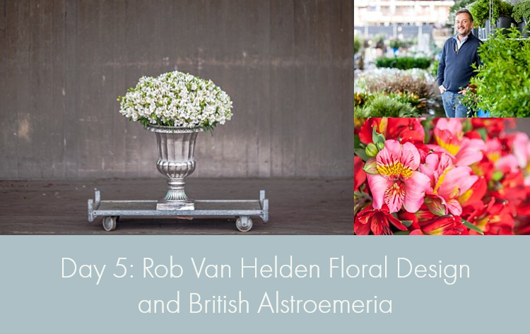 Day 5 of British Flowers Week, featuring designs by Rob Van Helden of Rob Van Helden Floral Design using British Alstroemeria, presented to you by New Covent Garden Flower Market
