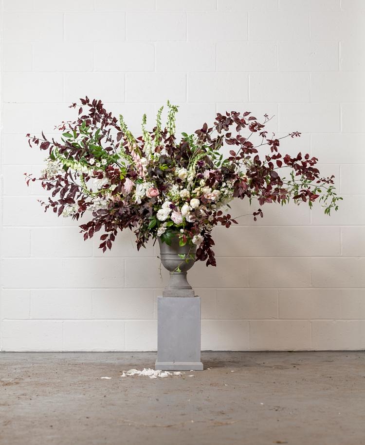 Jennifer Pinder urn design for British Flowers Week 2017 by New Covent Garden Flower Market