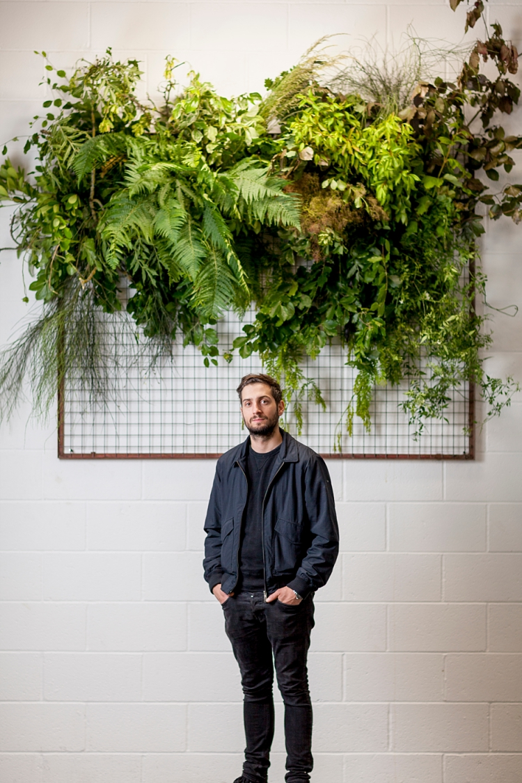 Matthew Richardson, Urban Flower Co for British Flowers Week 2017 by New Covent Garden Flower Market