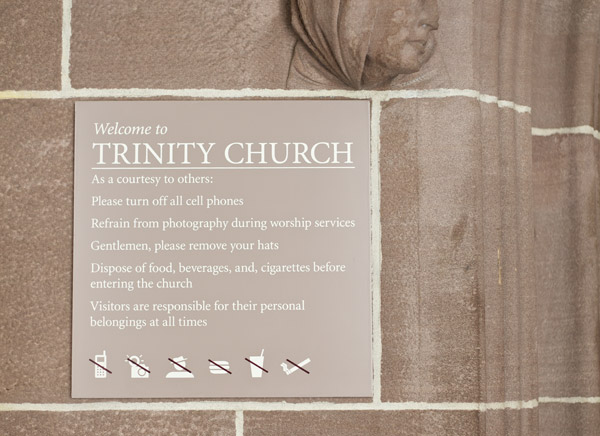 Part of my management and implementation of the Trinity Wall Street brand while working at Archigrafika. Click here to see more of Trinity Church   located in lower M  anhattan.