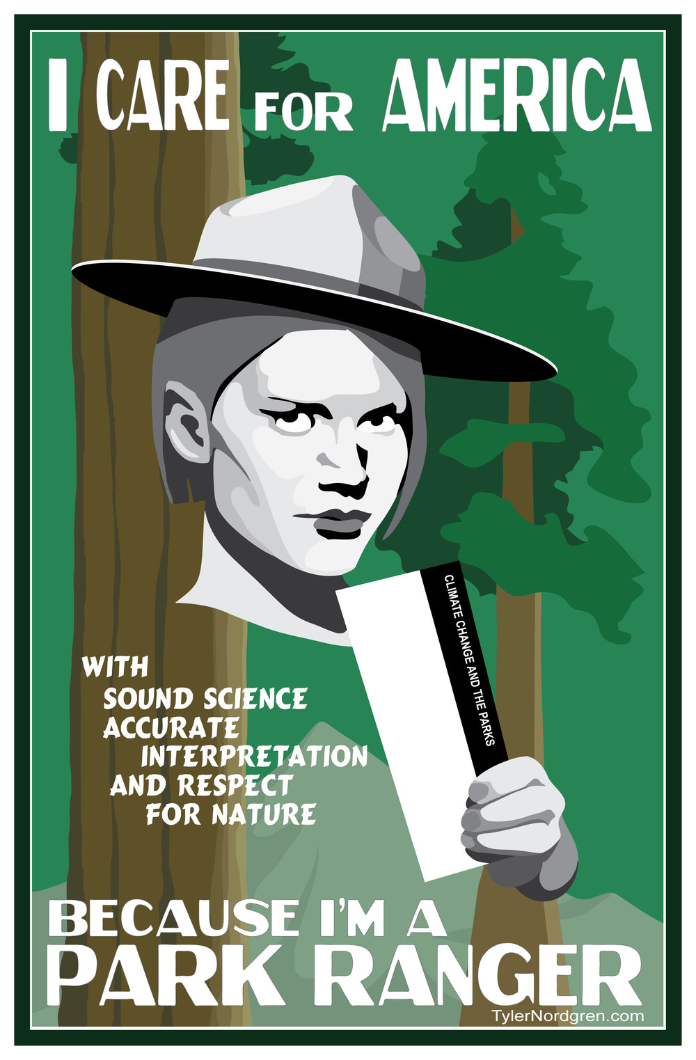 This posters is sized to be 12x18inches. Feel free to print it for yourself. Help park rangers help America.