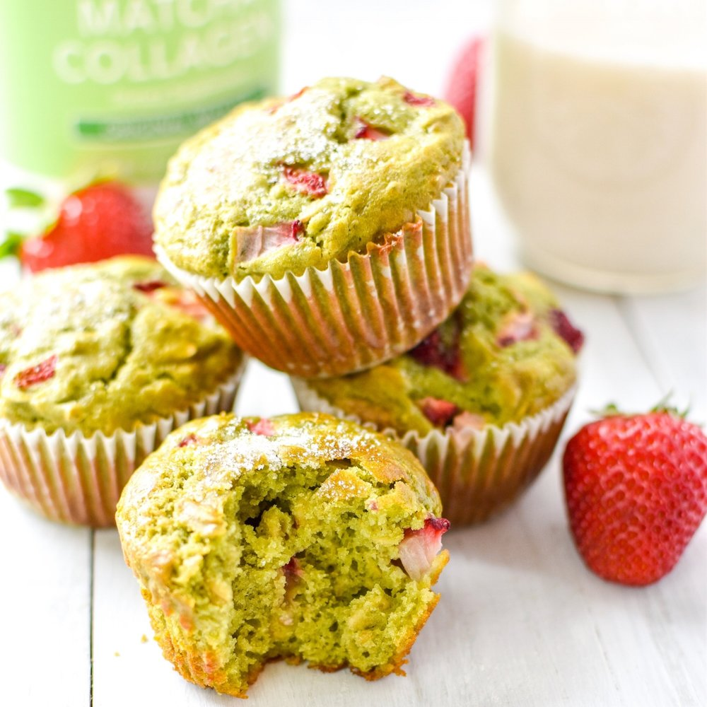 Strawberry Matcha Muffins