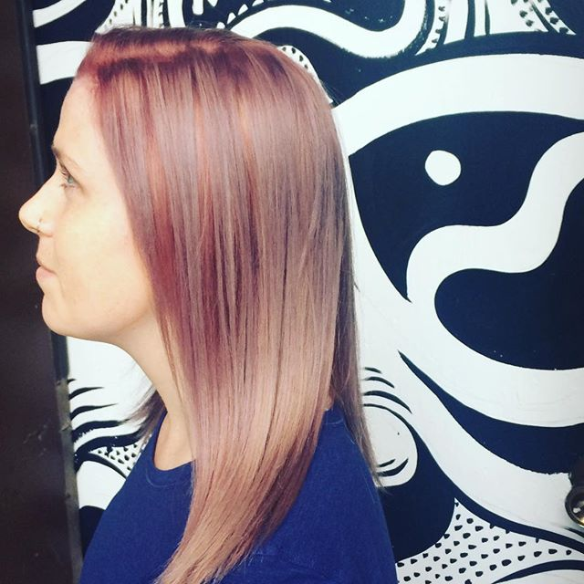 Ash strawberry color by Amber @amber_dawnnn #591bank #studioburbanhair #ash #strawberry #swartzkopfcolorist