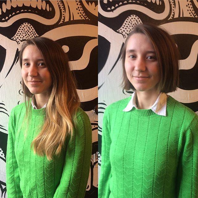 Beautiful Transformation by Amber @amber_dawnnn #ottawahair #boblife #studioburbanhair #591bank #makeover