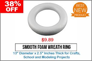 Smooth Foam Wreath Ring