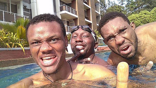 On some Michael Phelps shhhi... best way to recover from stress. #swimming crazy with #friends  #Health first