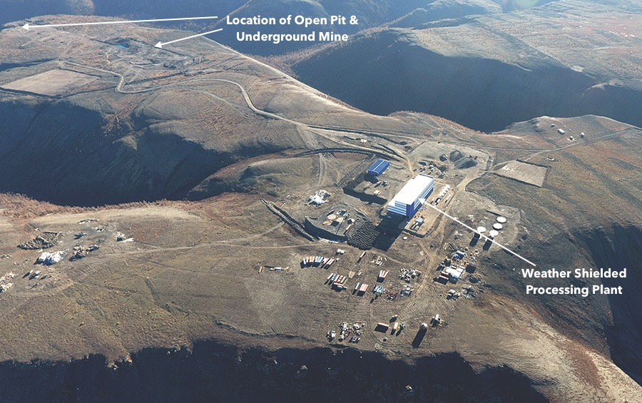 Arial View of Vertikanly Operation   (click to enlarge) Photo provided by Silver Bear Resources (notations mine)