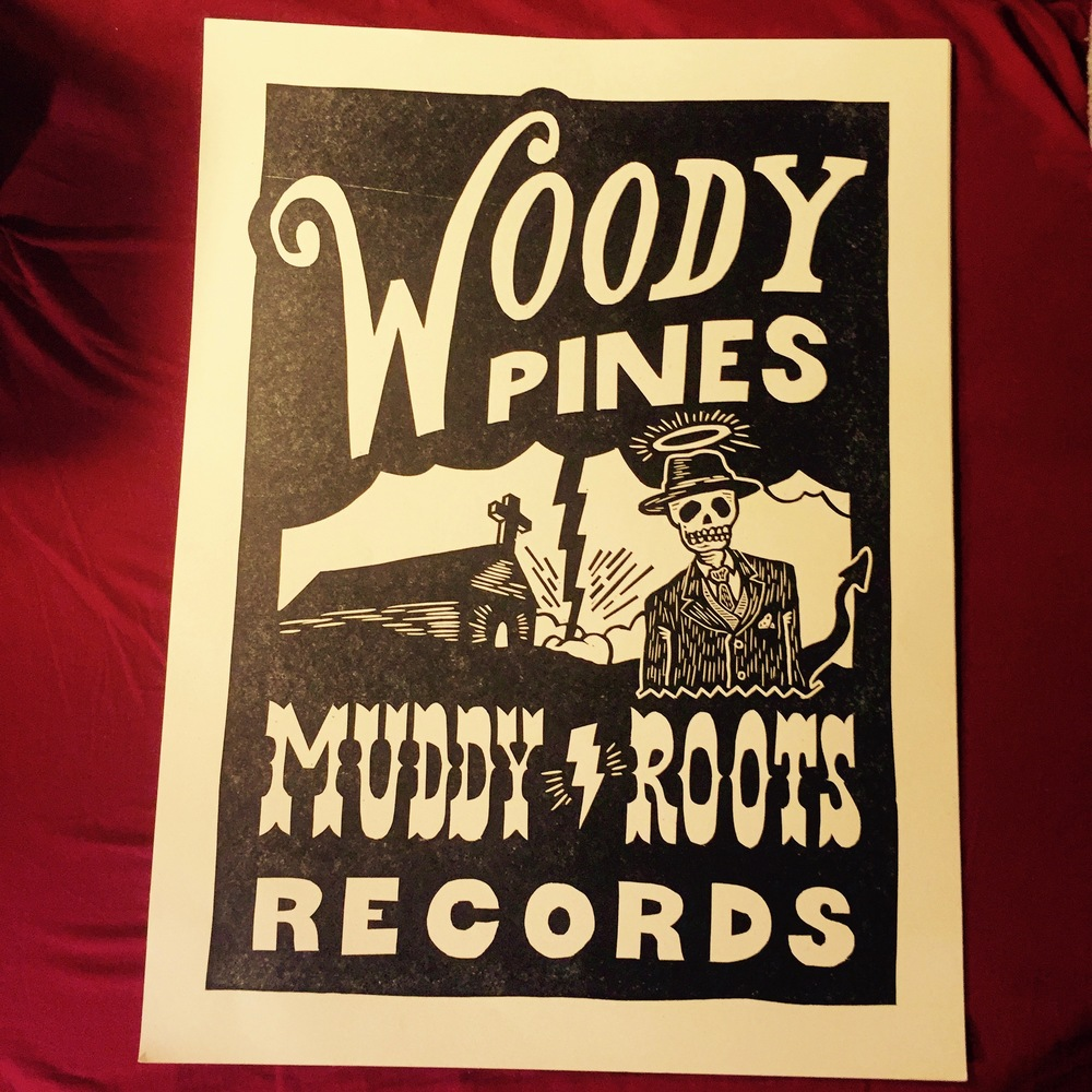 Woody Pines Muddy Roots Block Print Poster 18 X 24 Woody Pines