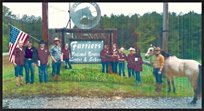 Students from the Sequatchie Valley Prep Academy, visiting Georgia Horseshoeing School.