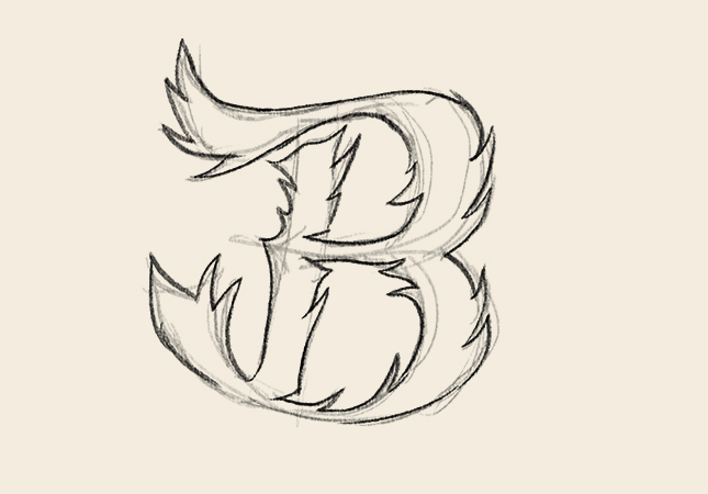 Draw Up Any Letter Using Organic Style You Like