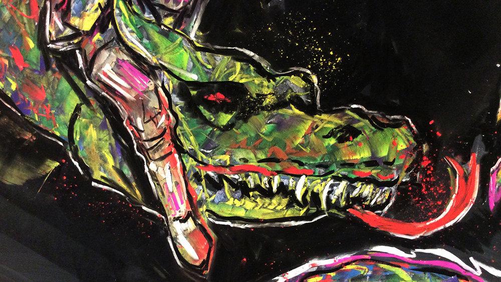 Dragon Chalk Mural
