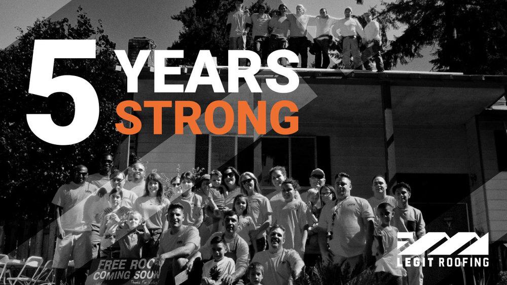 Legit Roofing Anniversary