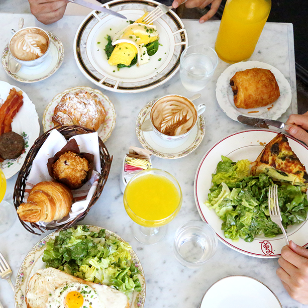 Brunch is served from 10 a.m. to 2 p.m. on Saturday and 10 a.m. to 3 p.m. on Sunday at  Mercat Bistro  in the  HARWOOD District .