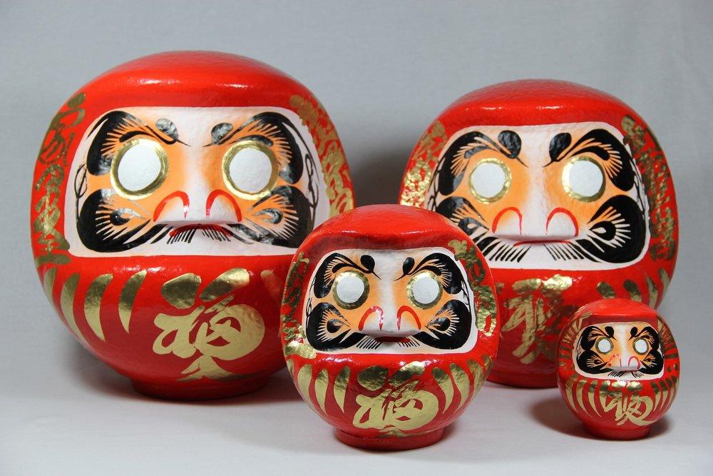Daruma Dolls - Samurai Collection