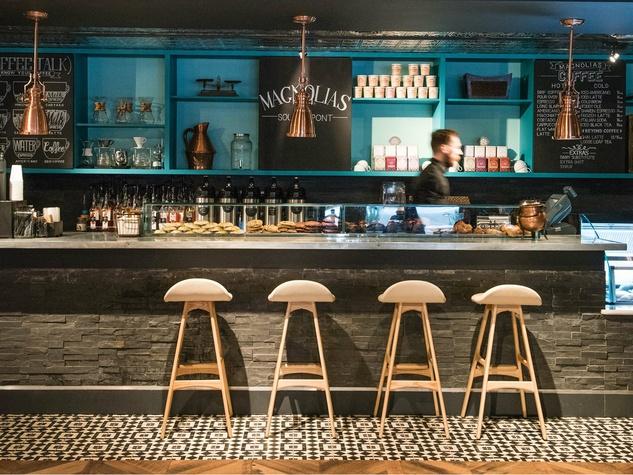 Grab a gourmet coffee at Magnolias: Sous Le Pont.