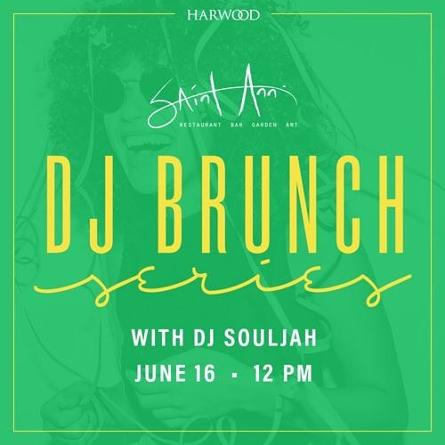 Don't miss a beat this weekend! Treat dad to an early Father's Day celebration at Harwood District DJ Brunch at @saintanndallas!