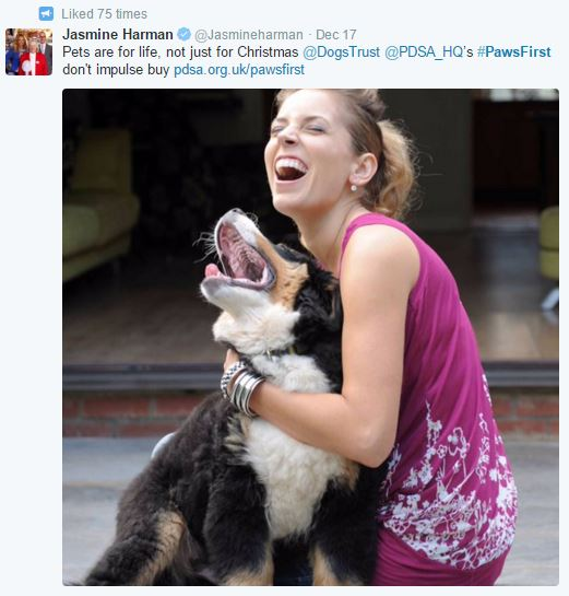 Jasmine Harman supports #PawsFirst