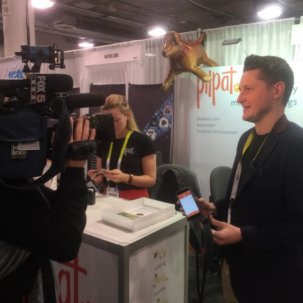 Andrew Nowell from PitPat interviewed at CES 2016