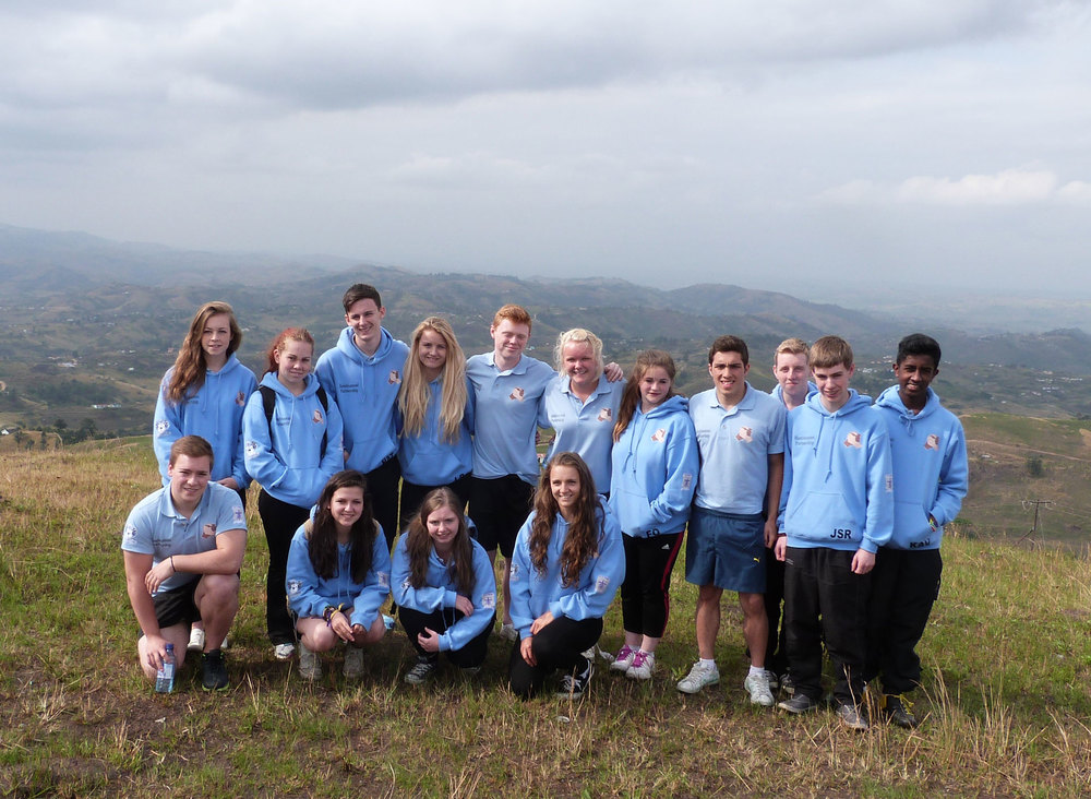 Photo: Group photo of St. Mary's Menston pupils in South Africa, July 2013