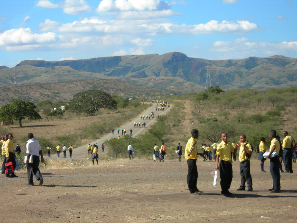 Photo: The road to Mnyakanya High School
