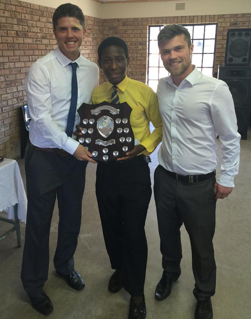 Photo: Mr T Pringle, Magwaza Standiwe, Mr G Wilkes
