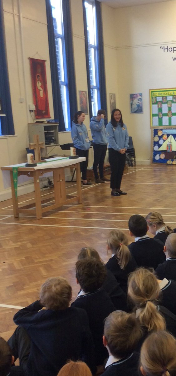 St. Mary's Menston students Olivia Brady and Lawrence Patterson at St. Mary's Horsforth