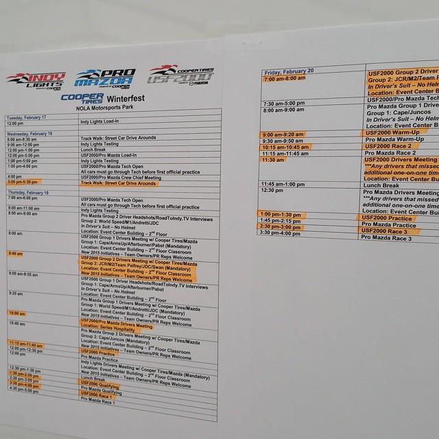 #Winterfest M2 schedule
