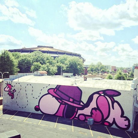 Snoopy & Woodstock mural in Richmond, VA
